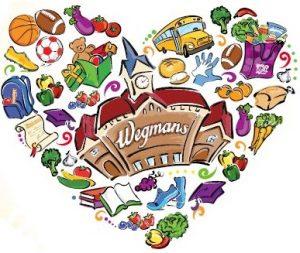 Wegmans community service heart logo
